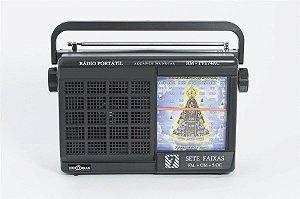 RM-PFT74 AC -Rádio Portátil c/Imagem  de Nossa Senhora Aparecida -s/estação fixa