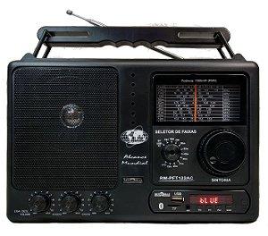 RM-PFT122AC-Rádio Portátil 12 faixas c/sintonia fina/bluetooth/cartão micro sd/USB e Controle Remoto.