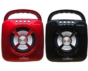 SM-BT4U41-SPEAKER com Bluetooth ,cartão TF,USB, Entrada Auxiliar e Rádio FM.