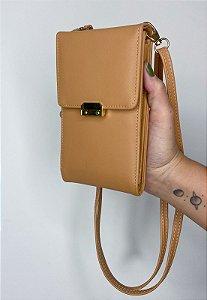 Bolsa Transversal Feminina Pequena Básica Caqui B037
