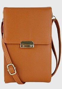 Bolsa Transversal Feminina Pequena Básica Caramelo B037