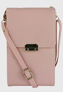 Bolsa Transversal Feminina Pequena Básica Rosa B037