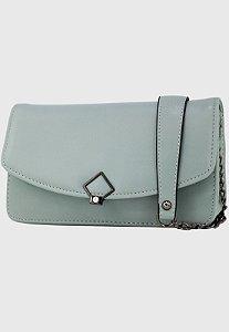 Bolsa Transversal Tiracolo Feminina com Alça de Corrente Azul B047