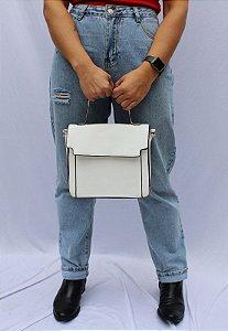 Bolsa Transversal e de Mão Feminina Branca B048