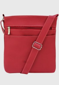 Bolsa Transversal Básica Feminina Masculina Vermelho LE05