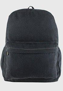Mochila Escolar Jeans Grande Preta A010