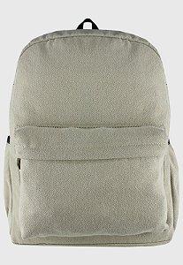 Mochila Escolar Jeans Grande Bege A010