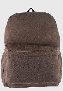 Mochila Escolar Jeans Grande Marrom A010