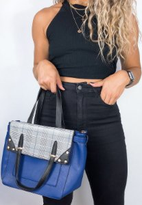Bolsa Feminina de Ombro e Transversal Azul B002