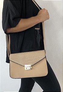Bolsa Feminina Tiracolo Pequena Bege B009