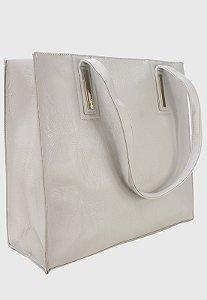 Shopper Bag Bolsa Feminina de Ombro Grande Off White B023