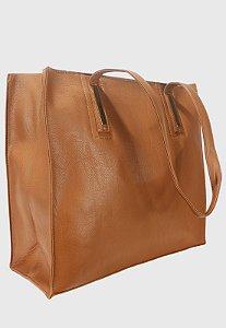 Shopper Bag Bolsa Feminina de Ombro Grande Caramelo B023
