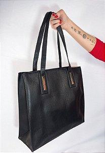 Shopper Bag Bolsa Feminina de Ombro Grande Preto B023