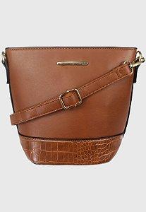 Bolsa Bucket Bag Transversal Marrom B0283