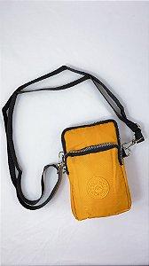 Shoulder Bag Bolsa Transversal de Nylon Mostarda B027