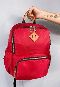 Mochila Clássica de Nylon Vermelha 030