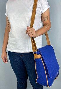 Bolsa Transversal de Lona Azul Bic L068