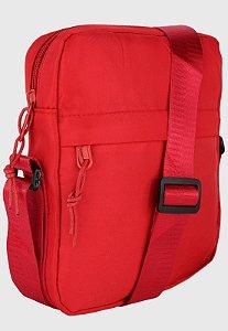 Shoulder Bag Bolsa Transversal Pequena de Nylon Vermelha B034
