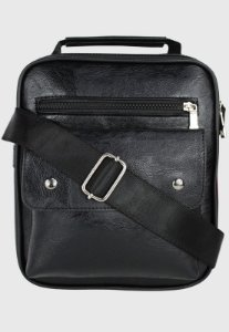 Bolsa Transversal Side Bag Masculina Feminina Preta B035