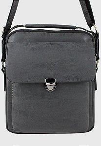 Bolsa Transversal Side Bag Masculina Feminina Preta B036