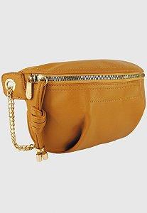Pochete Bolsa Transversal Feminina Amarela Mostarda B038