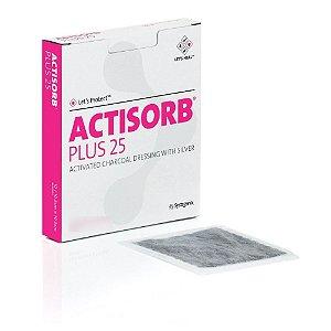 Curativo Actisorb Plus 25 19cm X 10,5cm Carvão Ativado - Systagenix