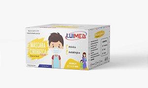 Máscara Cirúrgica Tripla Infantil Branca C/ Elástico CX C/50 UN - Luimed