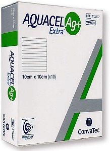 Curativo Aquacel AG+ Extra 10cm x 10cm Caixa C/10 - Convatec