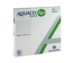 Curativo Aquacel AG+ Extra 15cm x 15cm Cx C/5 - Convatec