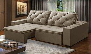 Sofá retrátil e reclinável 2,50 m