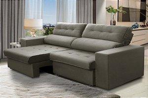 Sofá retrátil e reclinável com molas ensacadas 2,30m