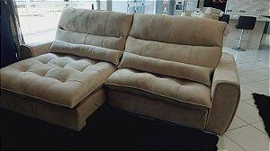Sofá Retrátil e Reclinável com molas espirais 2,90 de largura
