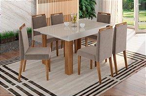 Mesa retrátil com 6 Cadeiras
