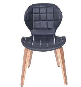 Cadeira Sara Com Base em Madeira