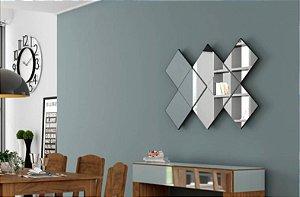 Painel de Espelhos Decorativo 3D