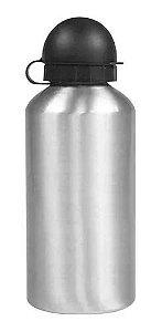 Squeeze Alumínio Prata Bico Bolinha - 500ml