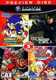 Usado Jogo Nintendo GameCube Preview Disc 5 Jogos - Nintendo