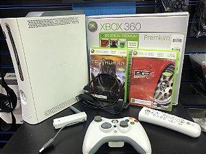 Usado Console Xbox 360 Premium Completo na Caixa - Microsoft