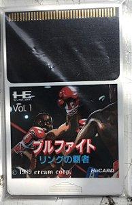 Jogo PC Engine Bullfight - Ring No Haja HuCard Japonês - Cream Corp