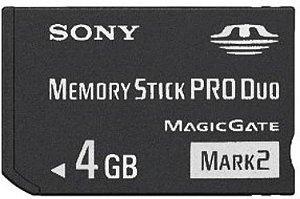 Memory Stick PRO DUO 4GB PSP - Sony