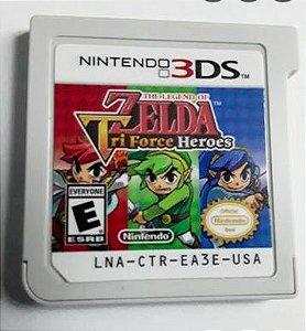 Jogo Nintendo 3DS The Legend of Zelda Tri Force Heroes (loose) - Nintendo