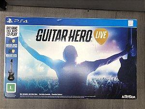 Jogo PS4 Guitar Hero Live Bundle Kit Com Guitarra - Activision