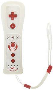 Controle Wii Remote Branco com Plus Inside Edição Toad - Nintendo
