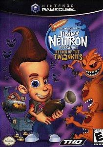 Usado Jogo Nintendo GameCube The Adventures of Jimmy Neutron Boy Genius Attack of the Twonkies - THQ