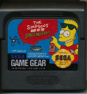 Usado Jogo Game Gear The Simpsons Bart vs The Space Mutants - Sega