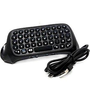 Mini Teclado Sem Fio para Controle de PS4 Wireless Keyboard PlayStation 4 - Dobe