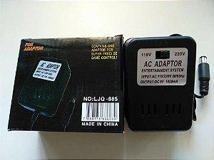 Fonte AC Adapter de alimentação para Super Nintendo NES Bivolt 110/220v - Importado