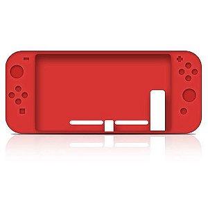 Capa Case Silicone Console Nintendo Switch - Vermelho