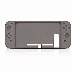 Capa Case Silicone Console Nintendo Switch - Cinza Fumê