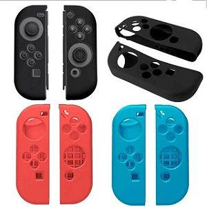 Case Capa de Silicone para Joy Con com Comfort Grip Nintendo Switch Transparente